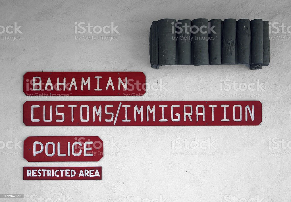 Bahamas customs and immigration royalty-free stock photo