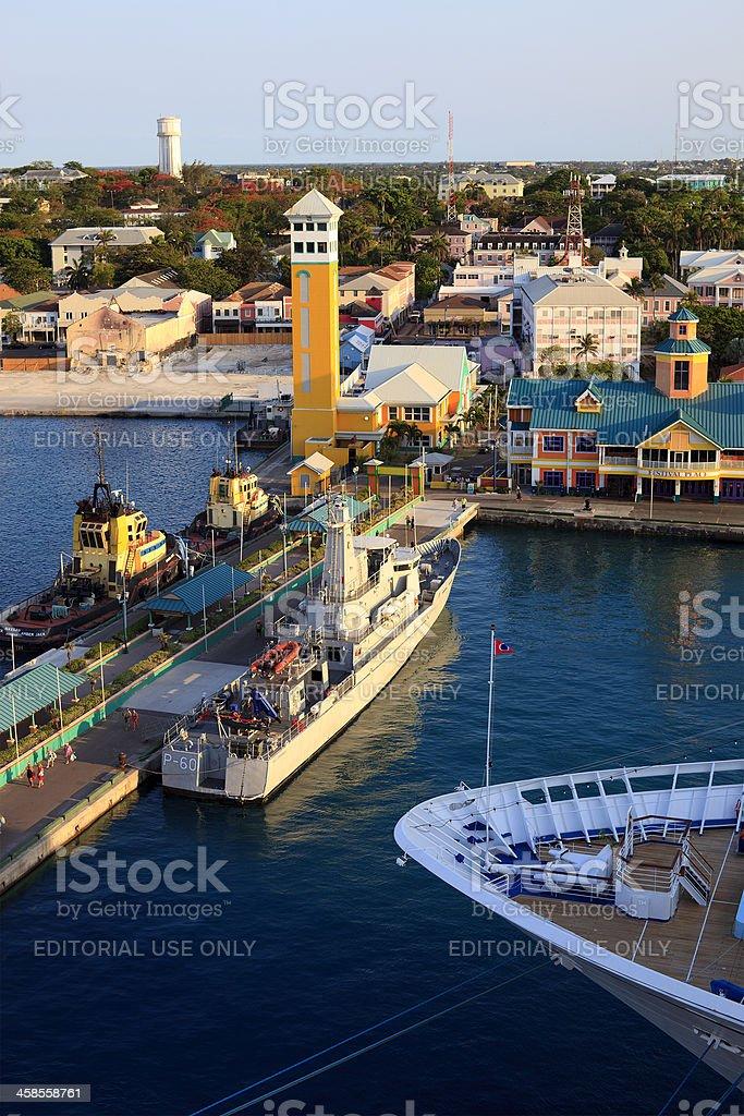 bahamas nassau commercial pier royalty-free stock photo