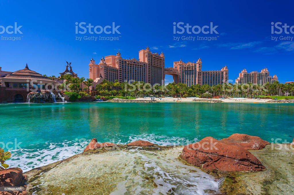 bahamas pier stock photo