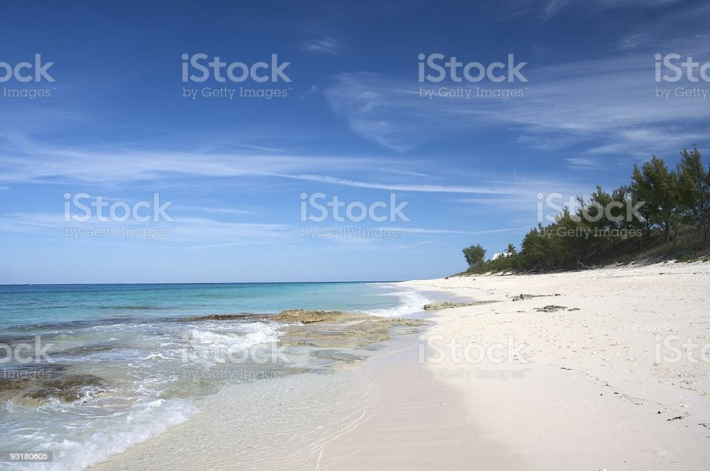 Bahamian Beach stock photo