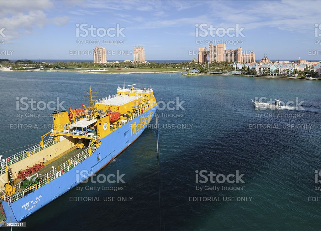 Bahamian Ferry and Atlantis Resort stock photo