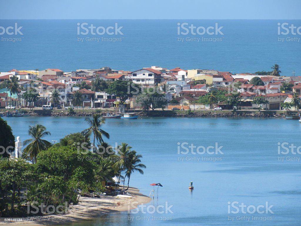 Bahia do pontal em Ilhéus stock photo