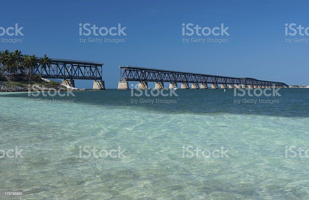 Bahia Honda Bridge stock photo
