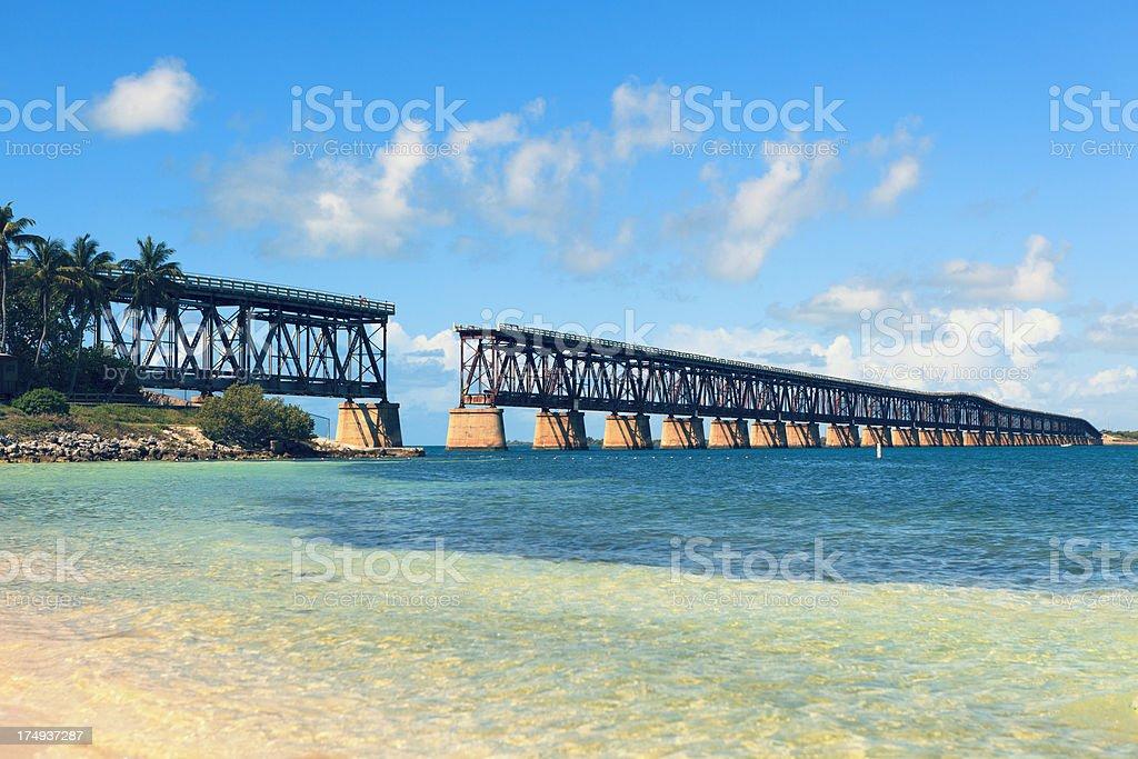 Bahia Honda Rail Bridge stock photo