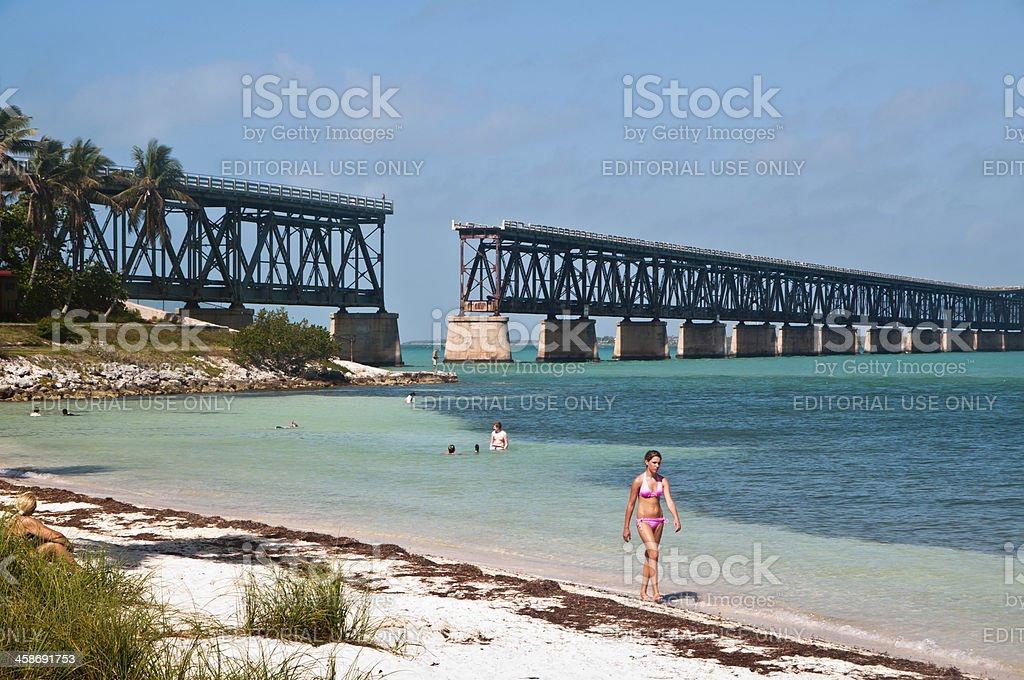 Bahia Honda Railroad Bridge stock photo