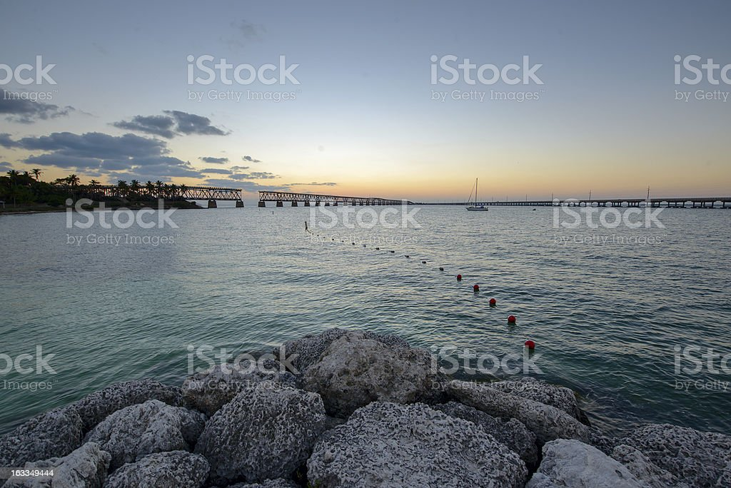 Bahia Honda State park in the evening royalty-free stock photo