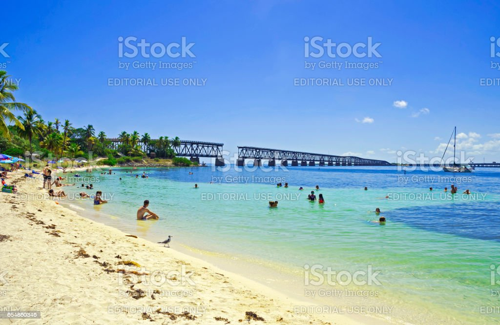 Bahia honda state park, the Keys stock photo