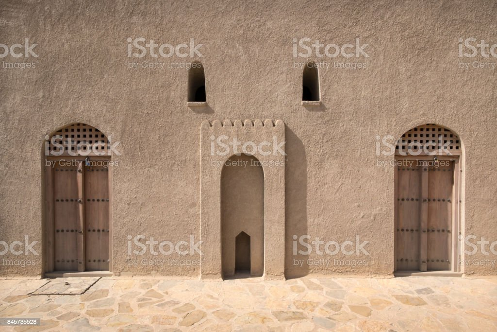 Bahla Fort interior, Oman stock photo