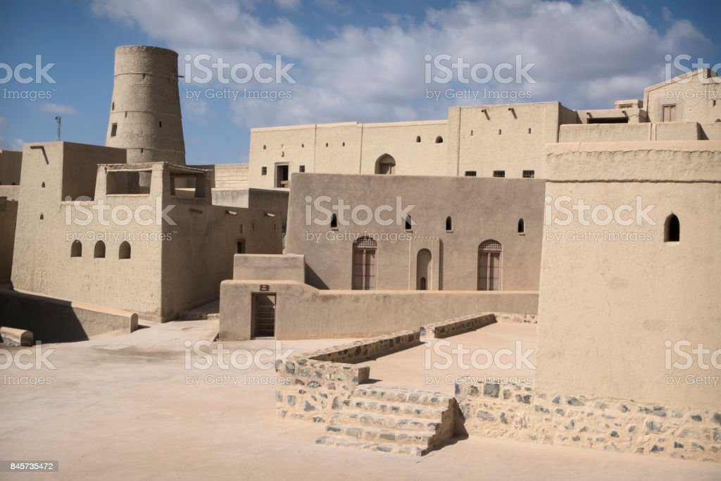 Bahla Fort, Oman stock photo