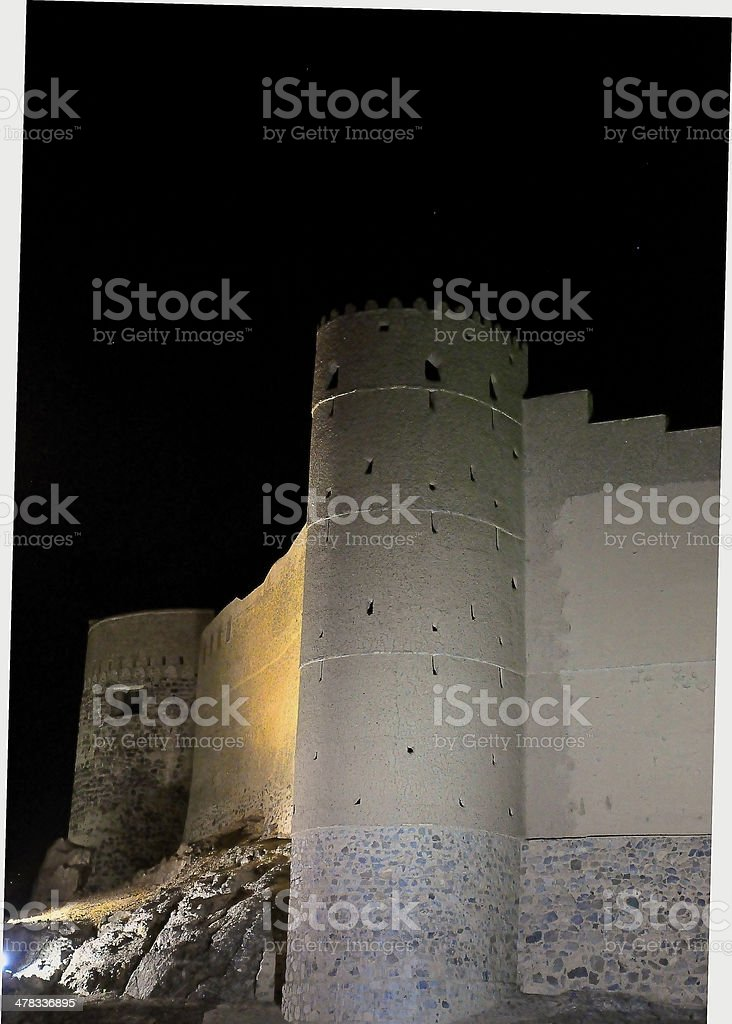 Bahla Fort stock photo