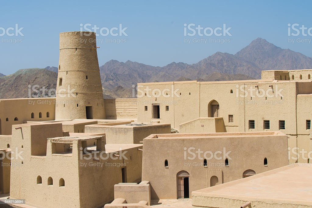 Bahla Fort, Sultanate of Oman stock photo