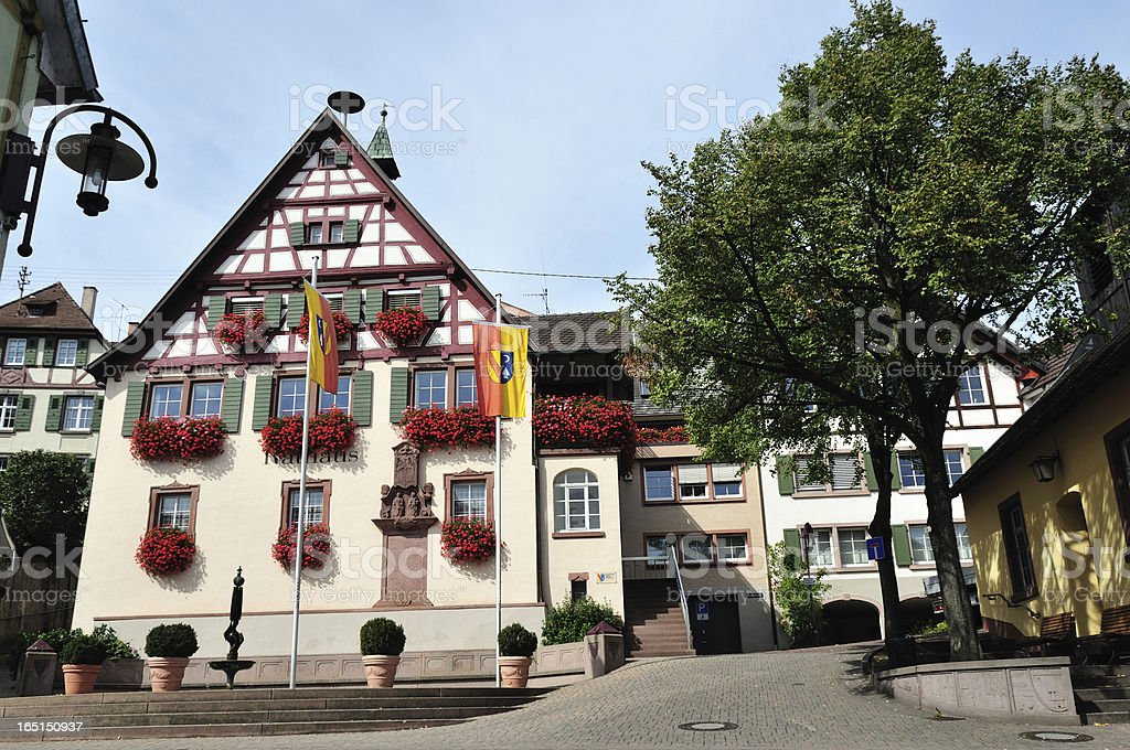 Bahlingen, Historic town hall royalty-free stock photo
