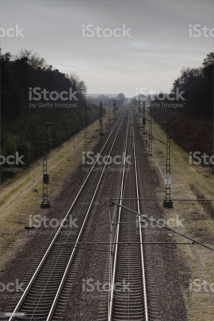 Bahngleise stock photo
