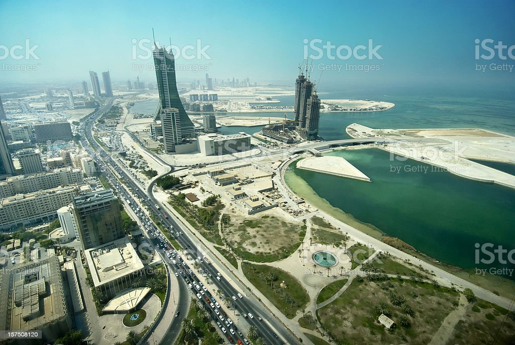 Bahrain developments stock photo