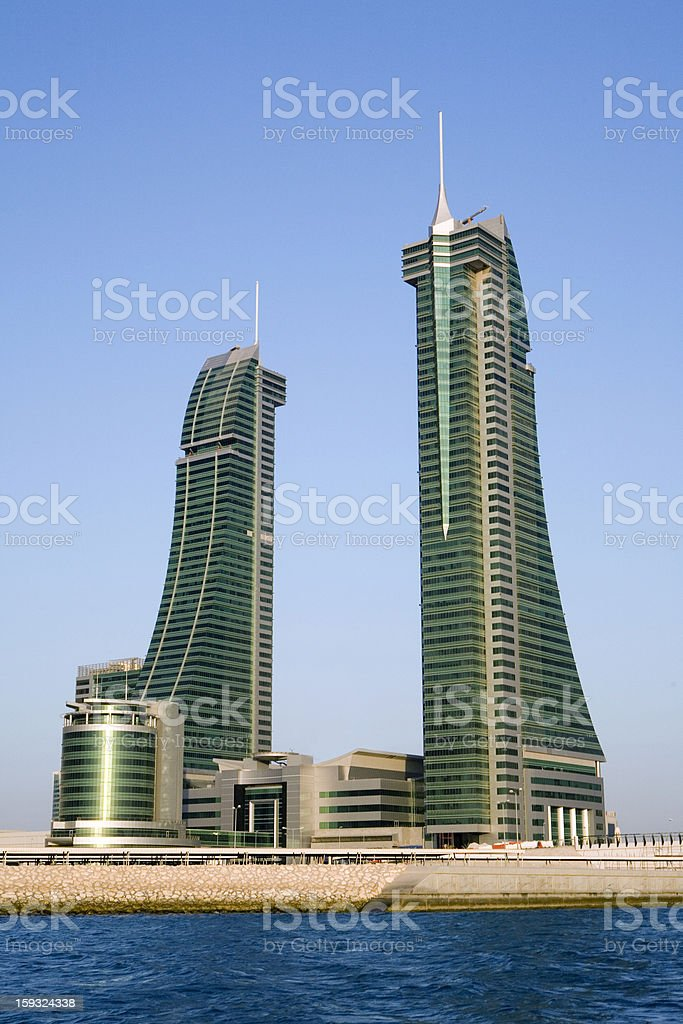 Bahrain Financial Harbour (BFH) royalty-free stock photo