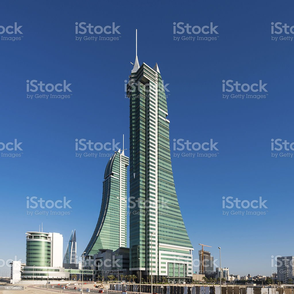Bahrain Financial Harbour Urban Skyscrapers stock photo