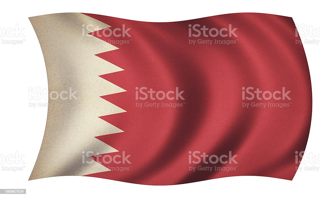 Bahrain Flag stock photo
