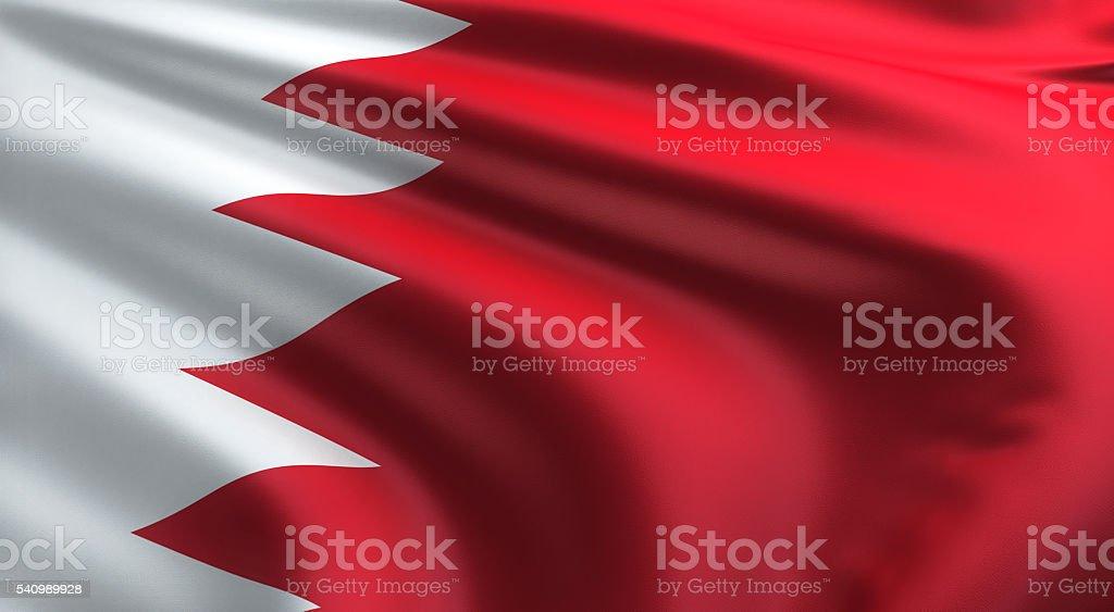 Bahrain Flag stock photo