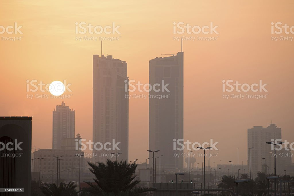Bahrain Sunset Manama royalty-free stock photo