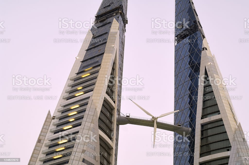 bahrain world trade center royalty-free stock photo
