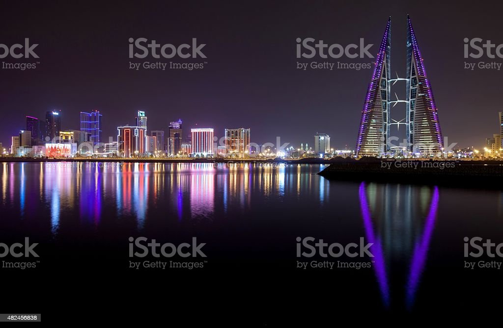 bahrain world trade center stock photo