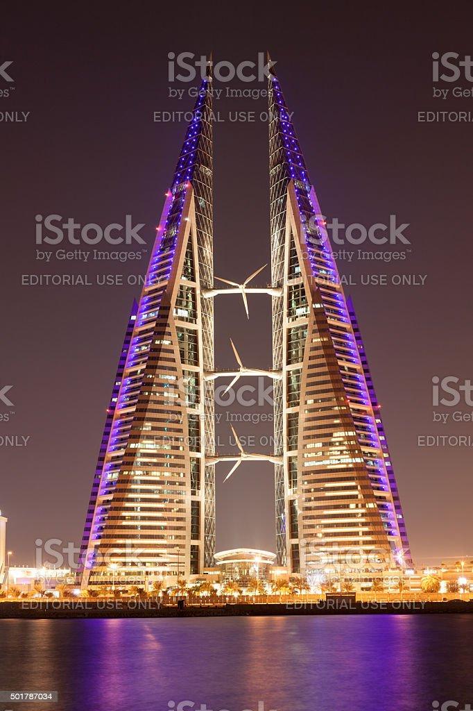 Bahrain World Trade Center stock photo