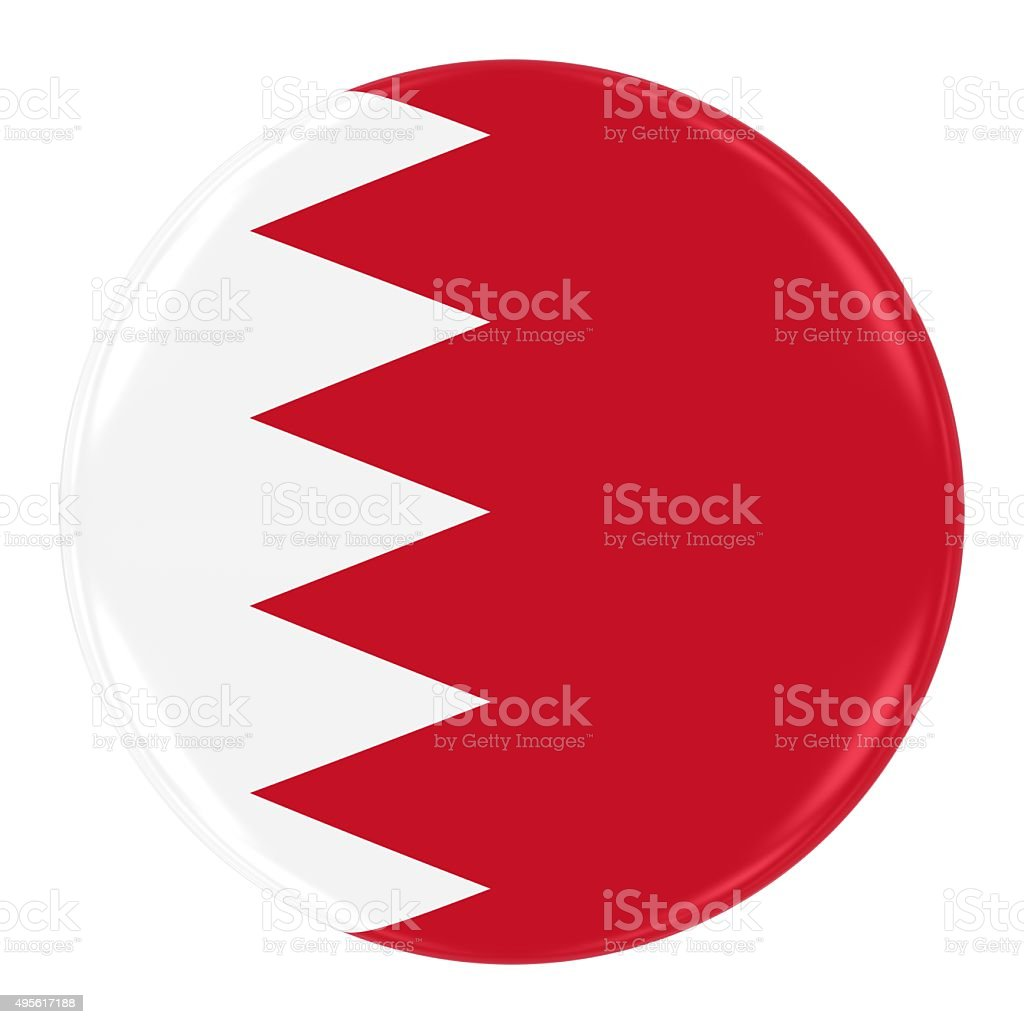 Bahraini Flag Badge stock photo