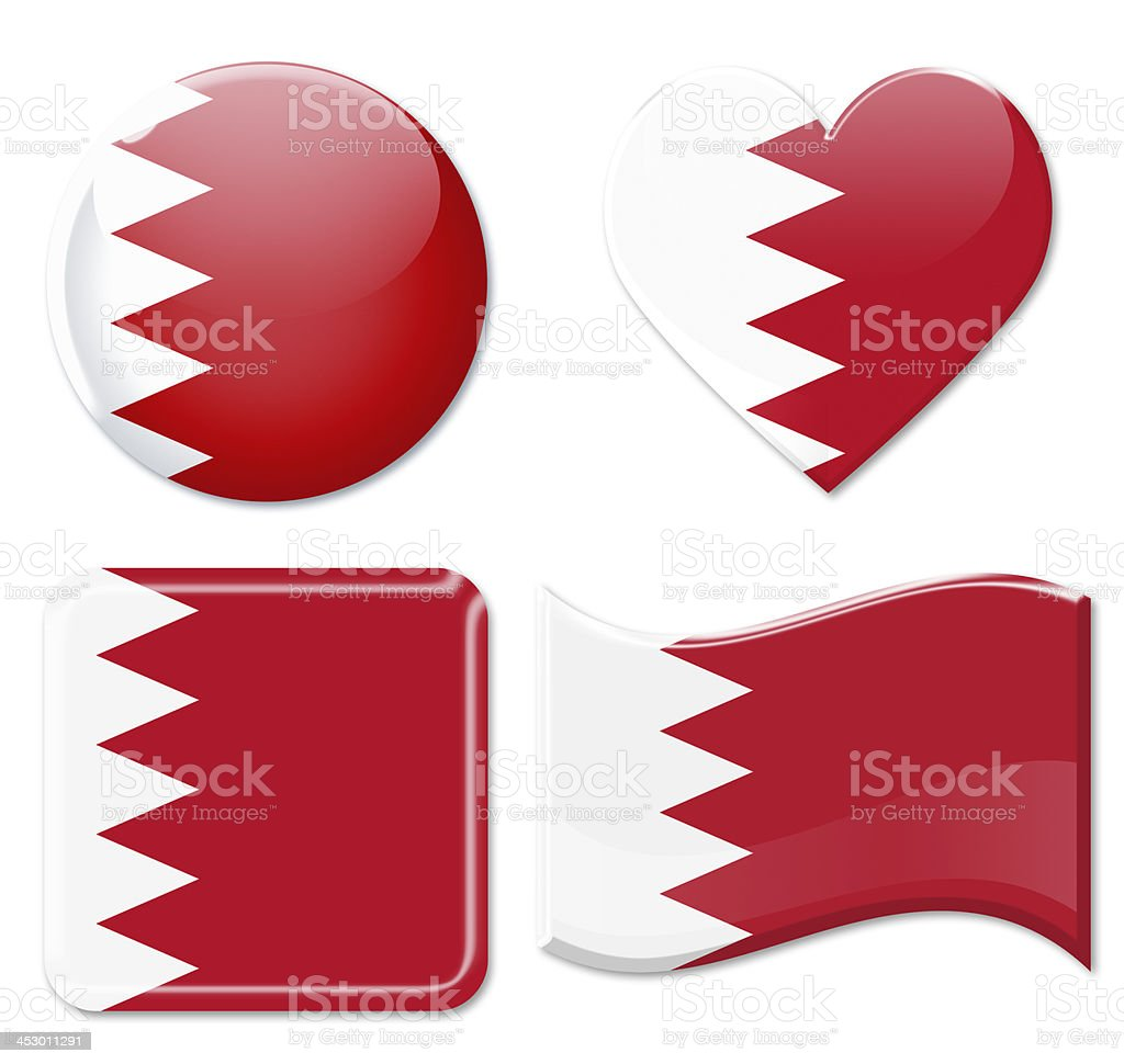 Bahraini Flags & Icon Set stock photo