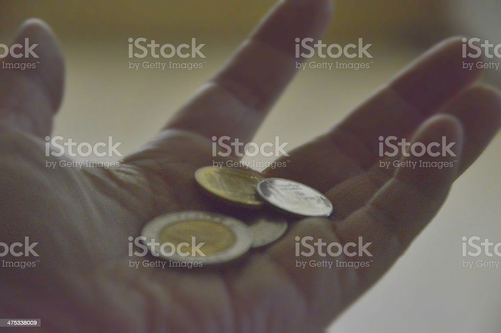 Baht coins. royalty-free stock photo