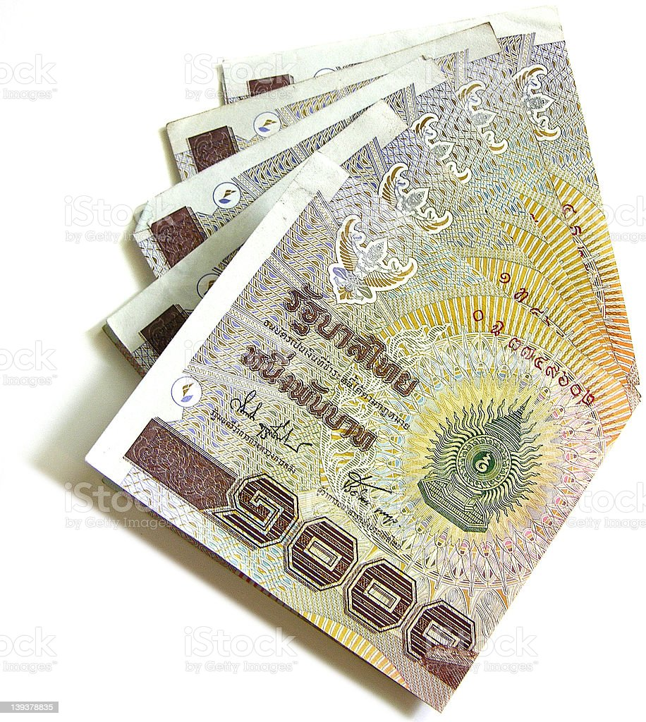 1000 baht Thai bank notes royalty-free stock photo