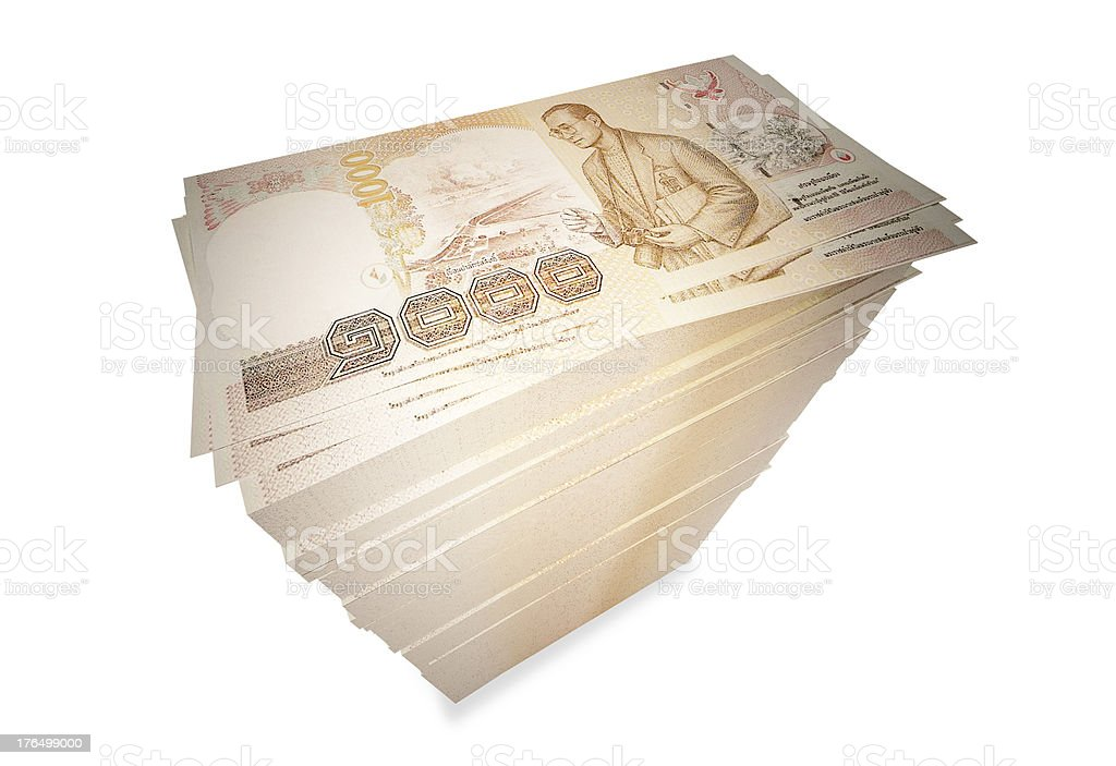 1000 baht Thai bank royalty-free stock photo
