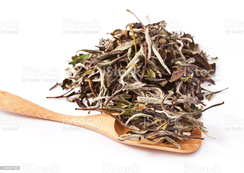 Bai Mu Dan (White Peony) chinese white tea stock photo