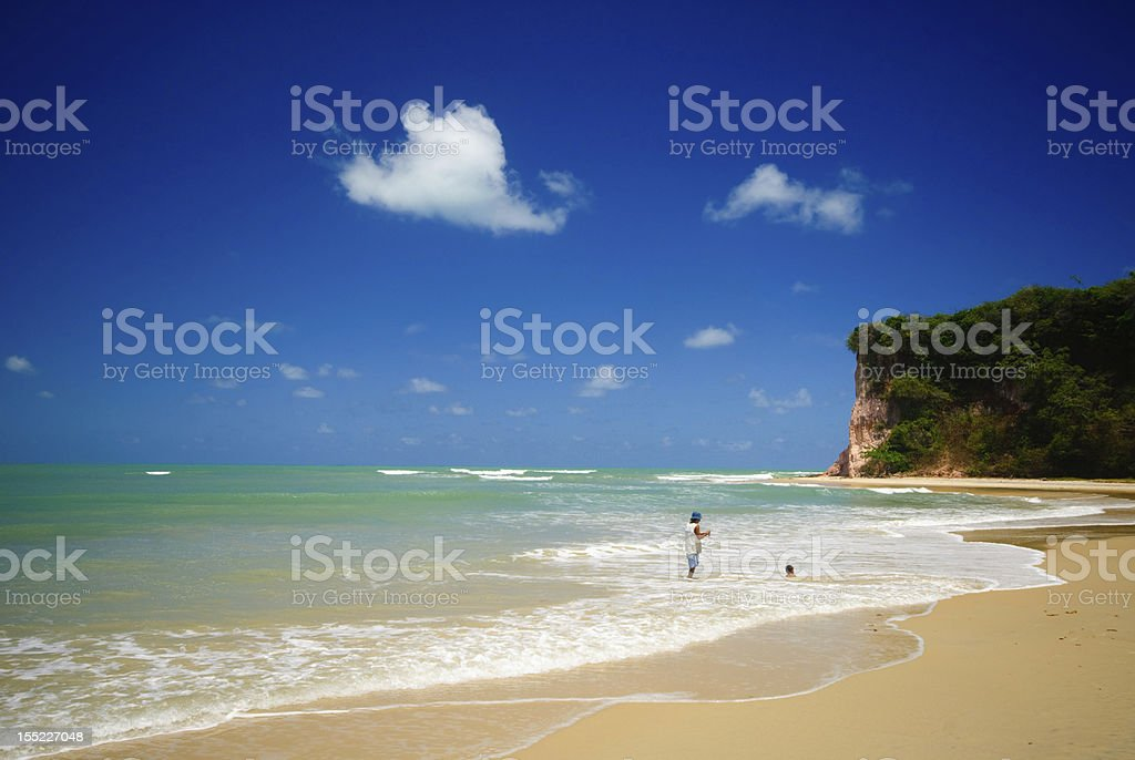 Baia dos Golfinhos near pipa Brazil stock photo