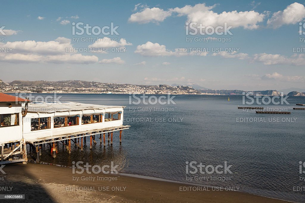 Baia Town in bay of Naples, Italy royalty-free stock photo