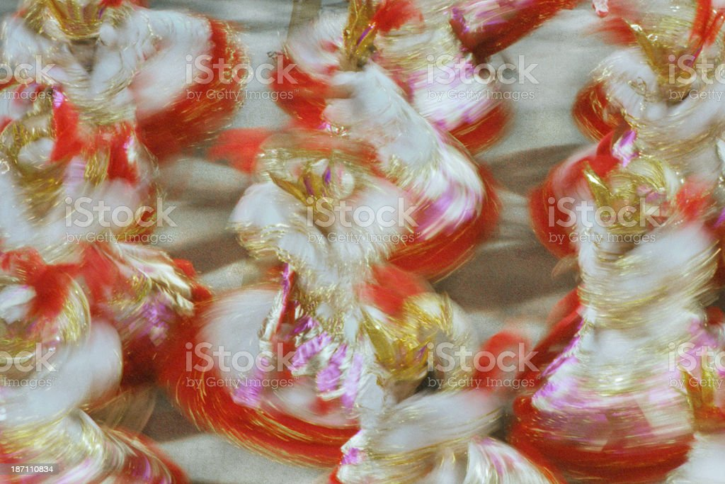 Baianas section in Rio Carnaval royalty-free stock photo
