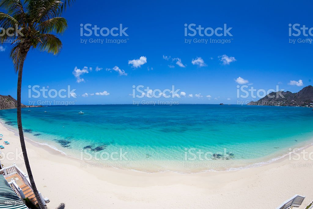 Baie de Grand-Case stock photo