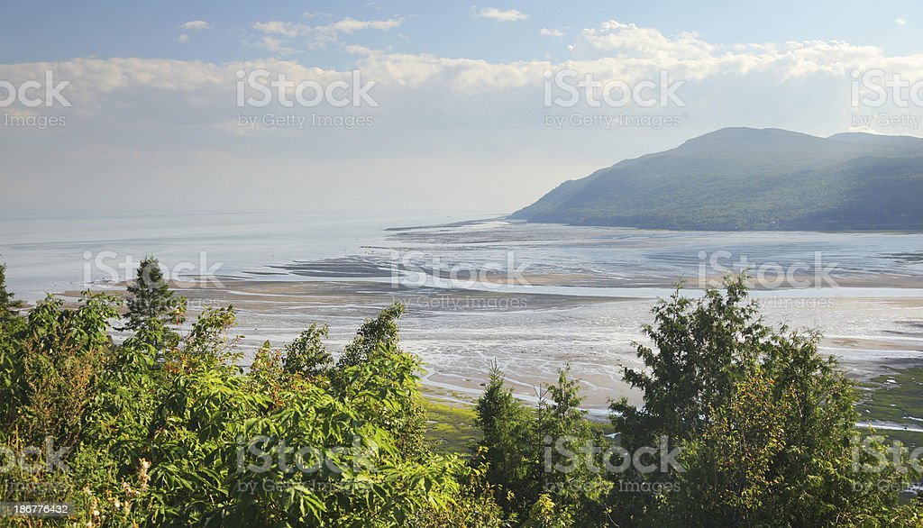 Baie St-Paul in Charlevoix Area royalty-free stock photo