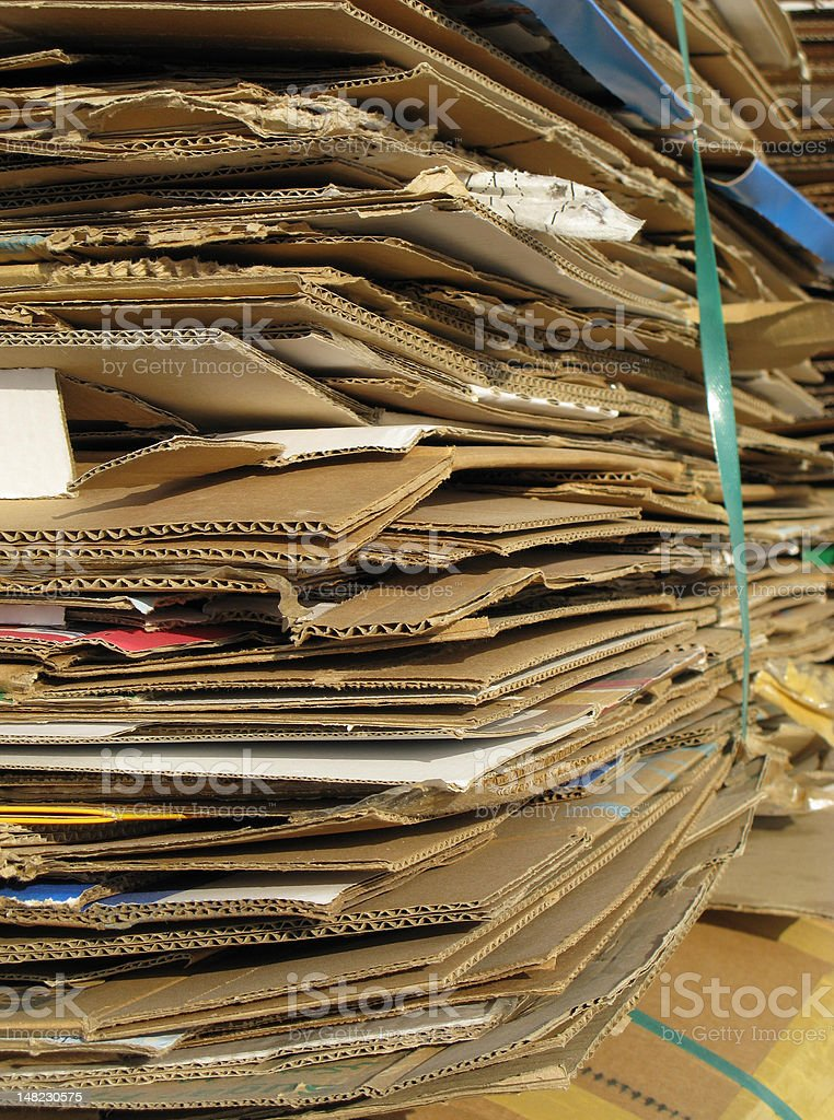 Bailed Cardboard royalty-free stock photo