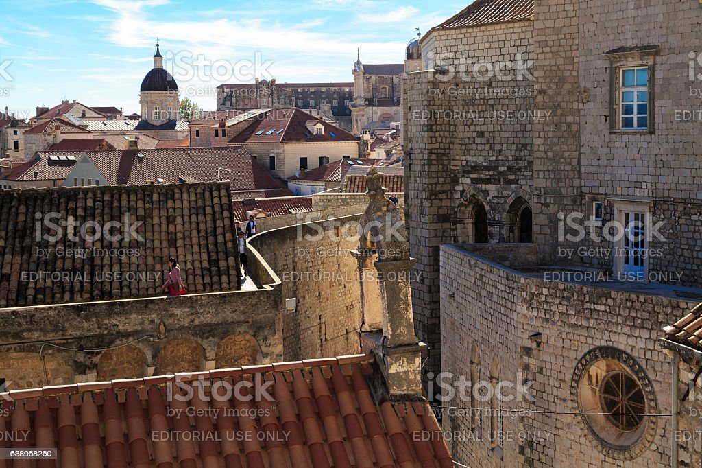 Bailey crossing the city of Dubrovnik stock photo