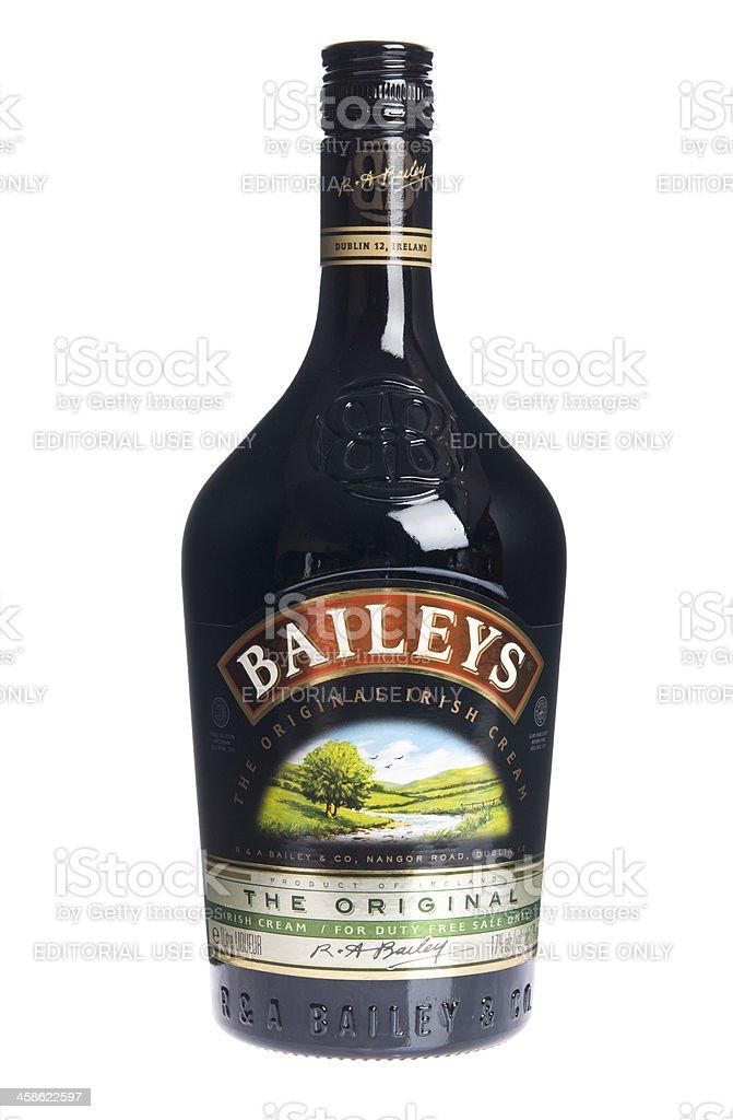 Baileys Irish Cream Bottle stock photo