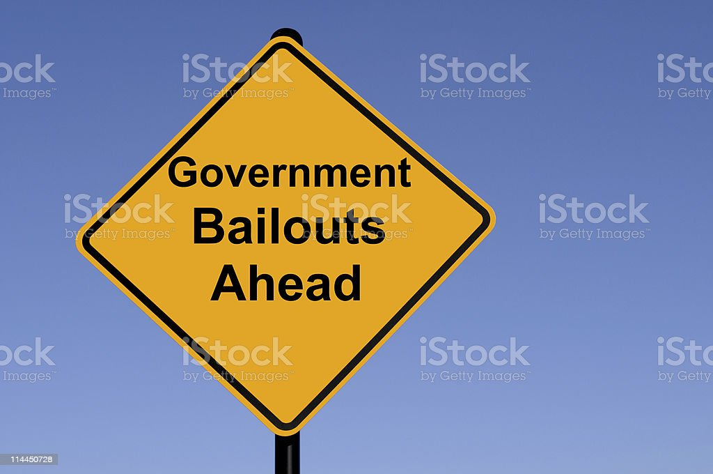 Bailout Ahead stock photo