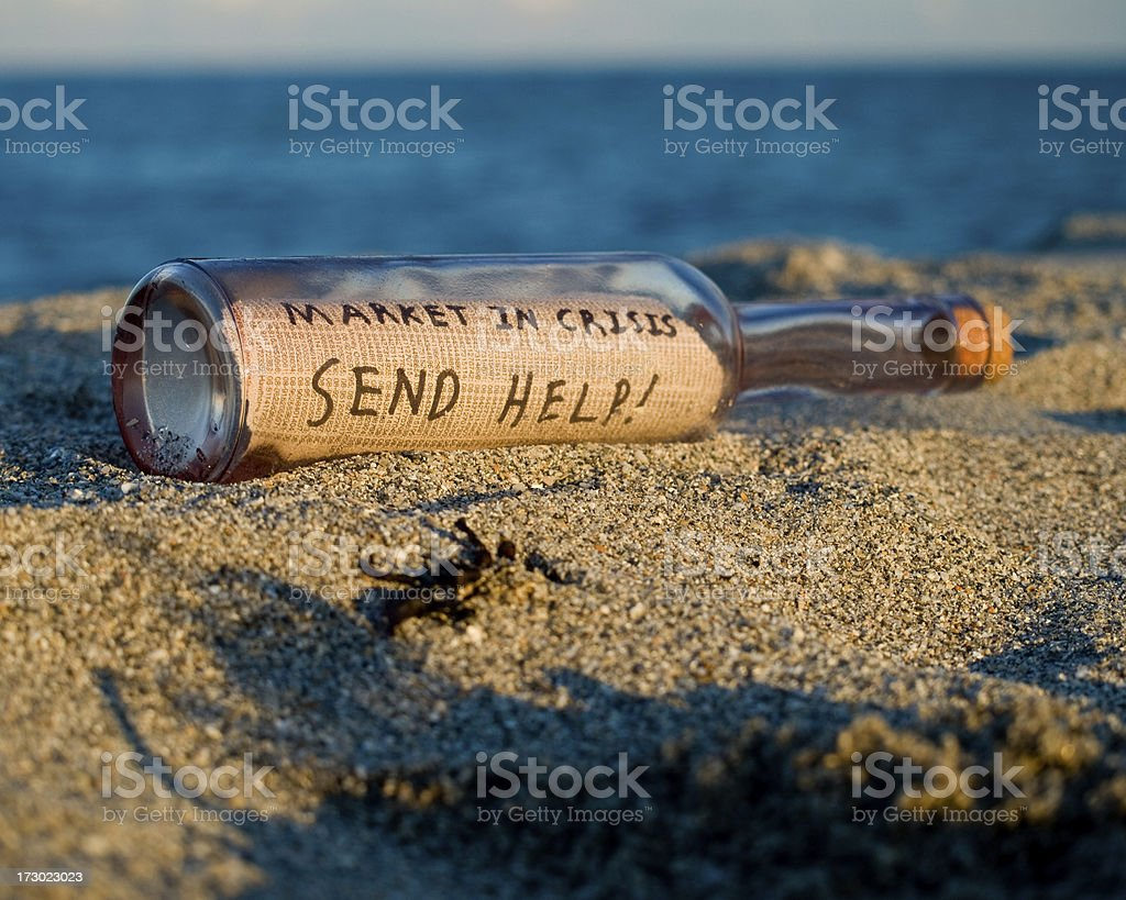 Bailout in a Bottle royalty-free stock photo