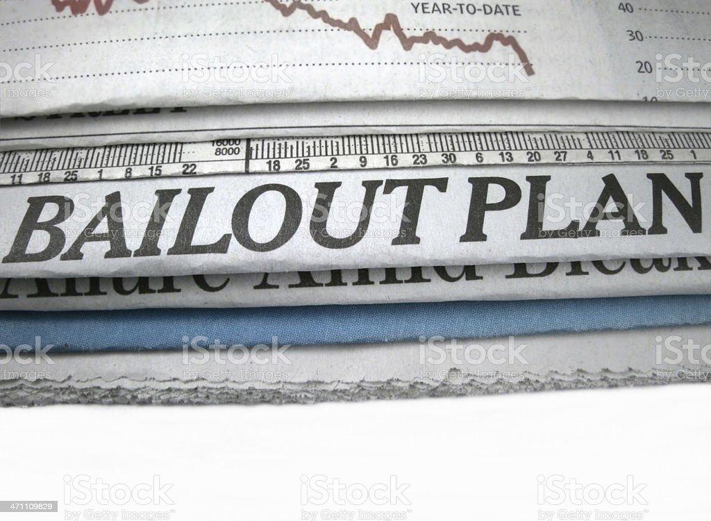Bailout Plan Headline royalty-free stock photo