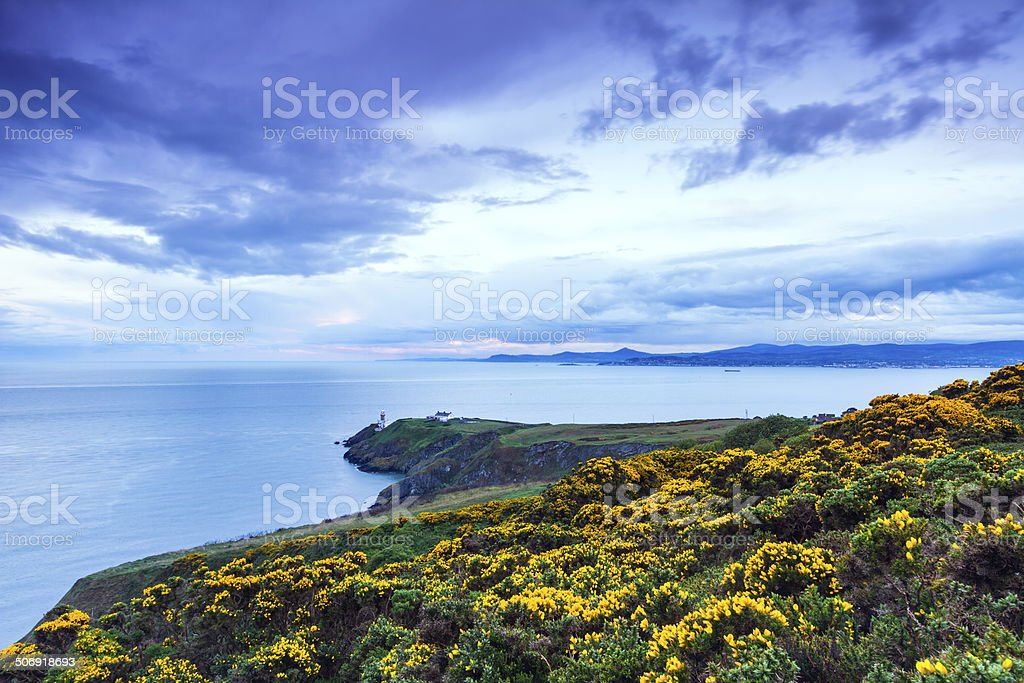 Baily lighthouse at Howth Head stock photo