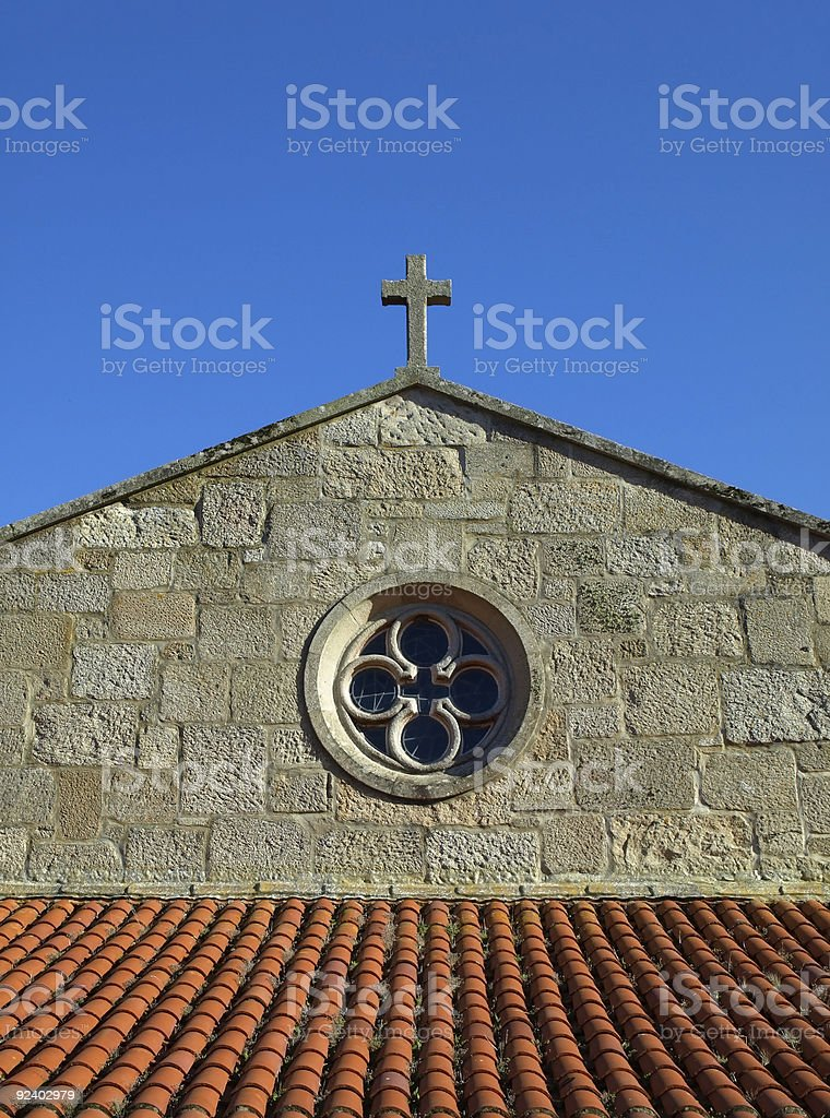 Baiona Church royalty-free stock photo
