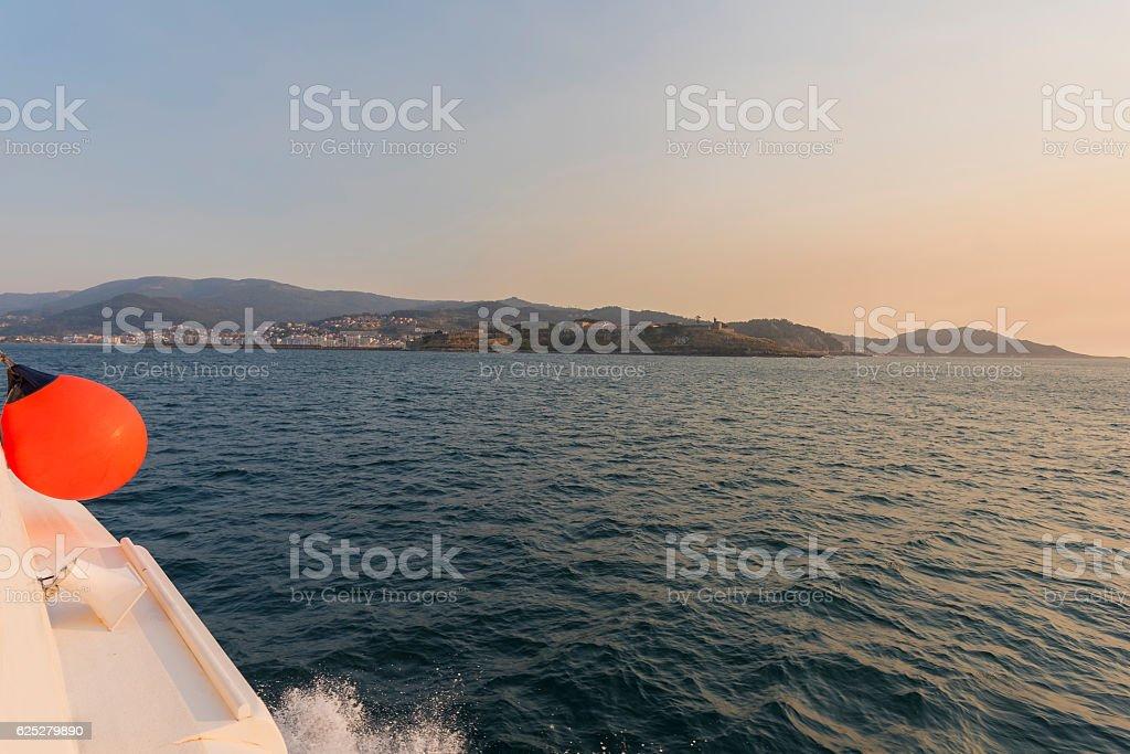 Baiona coast. stock photo