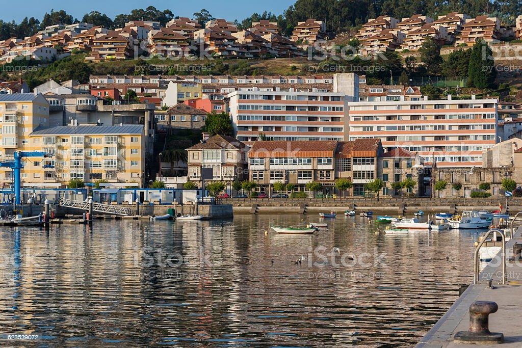 Baiona port. stock photo
