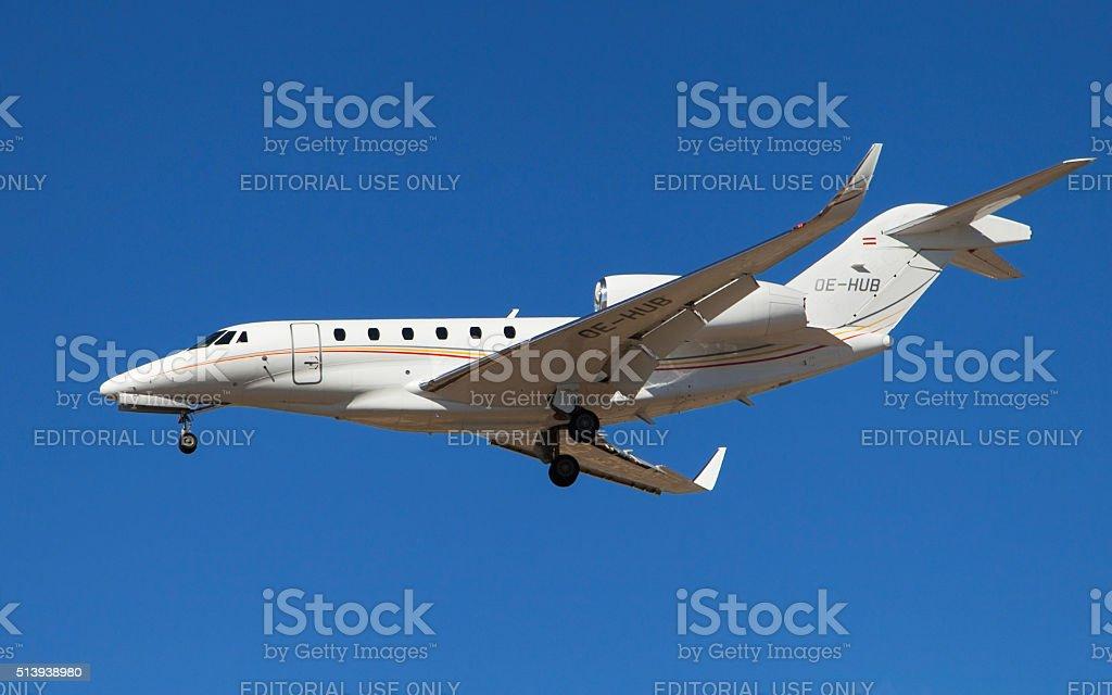 Bairline Cessna 750 Citation X stock photo