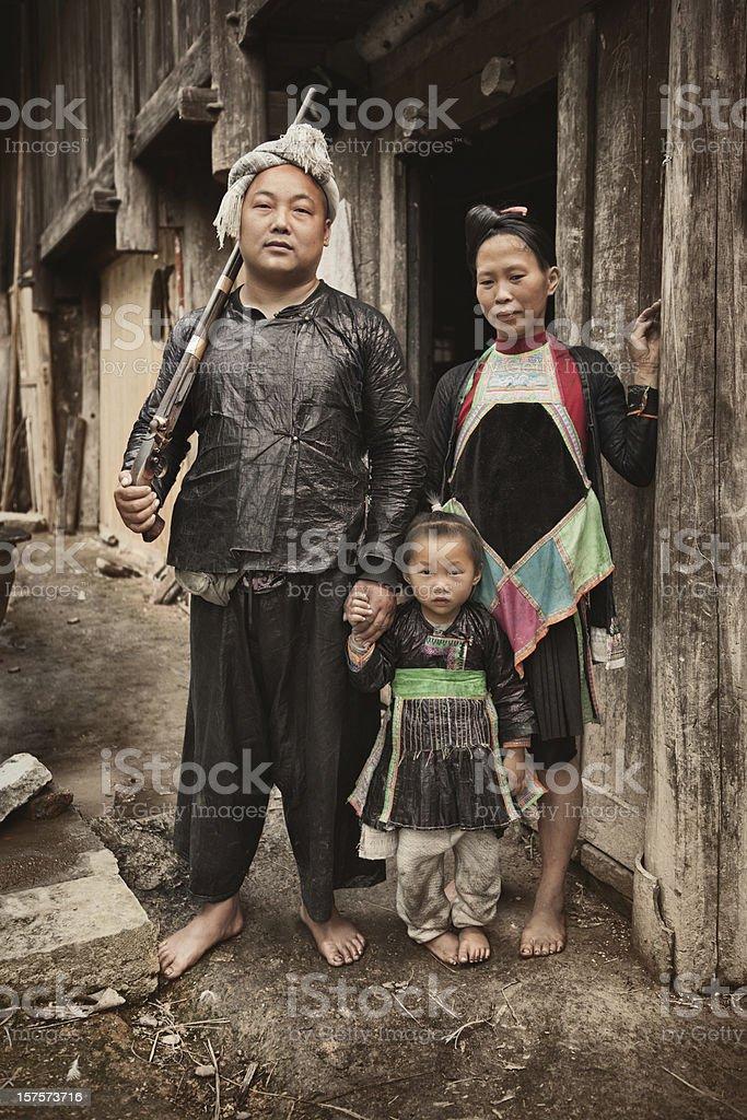 Baisha Miao family stock photo