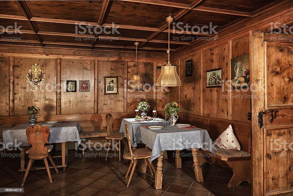 Baita alpina royalty-free stock photo